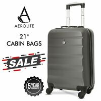 Aerolite Ryanair easyJet Hard Shell Cabin Carry On Hand Cabin Luggage Suitcase