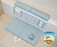 Baby Bath Kneeler, Elbow Pad and Bonus Shampoo Visor - Baby Bath Gift Set