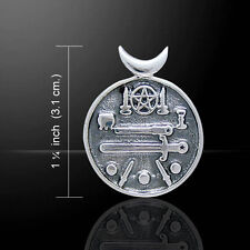 Pagan Wicca Witches Cauldron .925 Sterling Silver Pendant by Peter Stone
