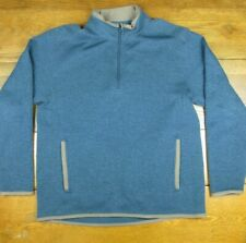 Life is Good Mens Size L 1/4 Zip Sweater Blue/Teal Long Sleeve with Pockets EUC