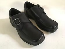 KENNETH COLE On Check Le Black Boys' LEATHER SHOE New 5.5 Medium UK 5 EU 38 Mex