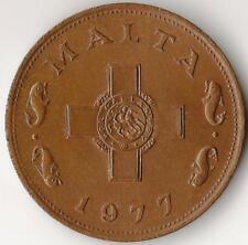 Malta, 1 Cent 1977, km 8, bronce