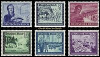 EBS Germany 1944 Postal Employees Comradeship (III) Michel 888-893 MNH**