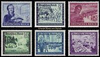 EBS Germany 1944 Postal Employees Comradeship (III) Michel 888-893 MNH**