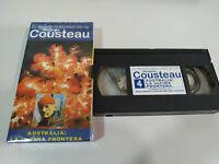 Jacques Cousteau - Australia la Ultima Frontera - VHS Tape Cinta Español