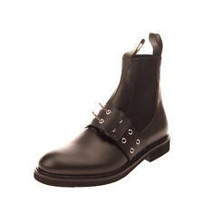 RRP €650 VERSUS VERSACE Leather Chelsea Boots EU 43 UK 9 US 10 Vibram Sole