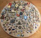 Estate Lot Mixed Old Vintage & Antique MILITARY PINS, BADGES MEDALS 196 ITEMS!