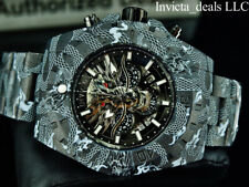 NEW Invicta Men's 52mm Pro Diver DRAGON HYDROPLATED Chrono COMBAT Black SS Watch