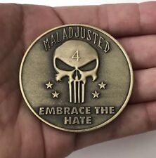 USN SEAL TEAM NAVY SEALS SPECIAL WARFARE 4 NSW PUNISHER KYLE CHALLENGE COIN CPO