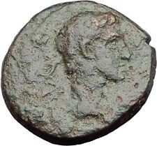 AUGUSTUS 27BC Philippi Macedonia PRIESTS Founding City Oxen Roman Coin i64626