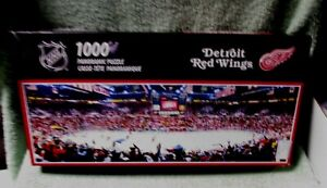 NHL 1000 Piece Panoramic Puzzle Detroit Red Wings Joe Louis Arena Sealed