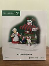 """Dept. 56 North Pole """"Mrs. Claus' Cookies And Milk� New!"""