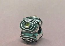 PANDORA | YELLOW CITRINE HYPNOTIZE CLIP *NEW* 790560Ci RARE RETIRED SILVER SWIRL