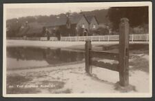 Postcard Aldbury nr Tring Hertfordshire early view of The Stocks houses pond RP