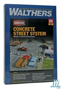 Walthers 933-3138 Concrete Street System Kit - Complete Set HO Scale Train