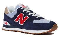 New Balance ML574PTR Blue & Red Color Athletic Shoes Sneakers Trainers Mens