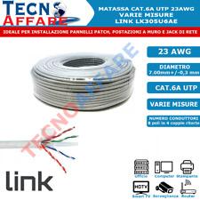Matassa Lan Ethernet CAT6A UTP 23AWG Cavo di Rete 100% Rame Varie Misure