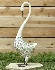 Metal Bird Yard Ornament - Decorative Outdoor Garden Sculpture