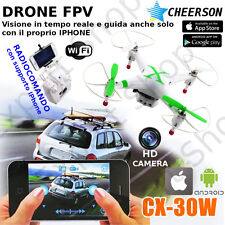DRONE ORIGINALE CHEERSON CX 30 FPV radiocomando VIDEO TEMPO REALE GUIDA IPHONE+O
