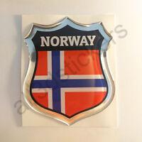 Sticker Norway Emblem 3D Resin Domed Gel Norway Flag Vinyl Decal Car Laptop