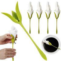4-20X Bloom Napkin Holders for Tables Plastic Twist Flower Serviette Holders