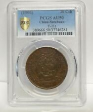1906 CHINA-SZECHUAN 20 Csh PCGS AU50 Y-11t Chinese Twenty Cash Certified Coin