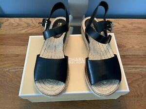 Michael Kors Lilah Platform Espadrille Black Size Uk6/39