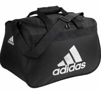 Adidas Diablo SMALL Duffel Bag BLACK GRAY Padded handle Fits Gym Locker NEW NWT