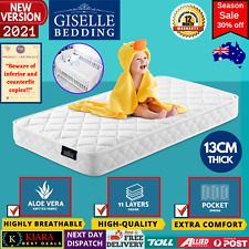 Giselle Bedding 13cm Thick Cot Mattress for Baby - White