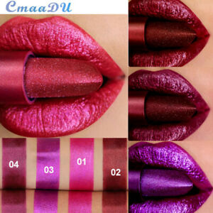 Diamond Glitter Matte Lipstick Waterproof Shimmer Satin Metallic Long Lasting