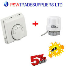 CENTRAL HEATING  ROOM THERMOSTAT WITH MANIFOLD'S ACTUATOR IDEAL FOR UFH