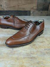 A.Testoni Split Toe Brown Leather Oxfords Sz 9.5 2011