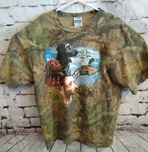 SPORTEX Proweight Hunting Retriever Camouflage T Shirt Top Men's Size XL VINTAGE