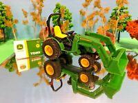 John Deere Tractor, Working Front End Loader, Diecast, ERTL, Farm Toy
