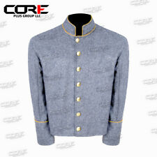 US Civil War CS Cavalry Yellow Pipping Trim Grey Wool Shell Jacket All Sizes !