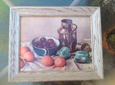 VINTAGE Framed Art 11x14 HENK BOS Still Life Fruit Print 112C Copper Series