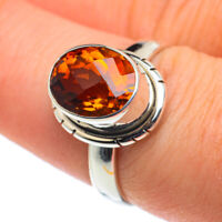 Mandarin Citrine 925 Sterling Silver Ring Size 7.5 Ana Co Jewelry R62629F