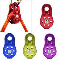 Lifting Swivel  Pulley Climbing Fixing Rope Pulley Block Hanging Wire GL