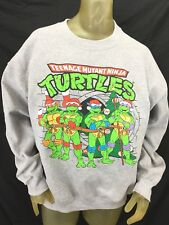Men's Teenage Mutant Ninja Pullover Sweatshirt Holiday Size Large Gray 2014