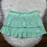 Lululemon Women's Size 8 Fresh Teal Run Pace Setter Skirt Short Skort Rare Color