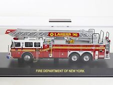 Code 3 FDNY New York Seagrave Rear Mount Ladder #30 1:64 Diecast 12739
