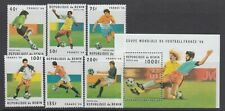 Benin 1996 World Cup Soccer  Sc 822-828  Cplte mint never  hinged