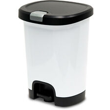 New Hefty 7 Gallon White Plastic Touchless Trash Can with Lid Made in USA
