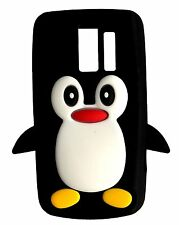Black Silicone Penguin Phone Case / Cover for Nokia Asha 205