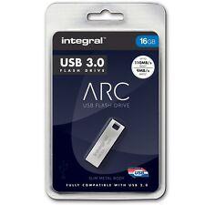 Integral Metal ARC 16GB USB 3.0 Capless Flash Drive INFD16GBARC3.0