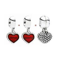 Pandora Piece of My Heart, Daughter Mom Charm, Bracelet Bead, New, #790950EN27