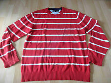Tommy HILFIGER bel con Strisce Pullover Rossa Bianca Taglia L top 816