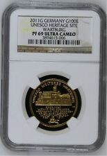 2011 G Germany G100E UNESCO Weltkulturerbe-Wartburg PF69 ULTRA CAMEO NGC Holder