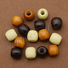 20 Pcs Wooden Dreadlock Hair Beads for Braid Hair Extension Jewelry Accessories