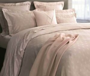 New Yves Delorme Prisme Nude Pink Solid Queen Fitted Sheet 100% Cotton Sateen